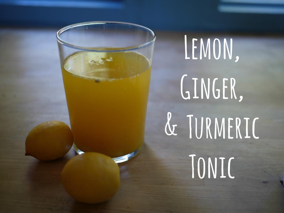 Homemade Ginger & Turmeric Tonic for Joint Pain