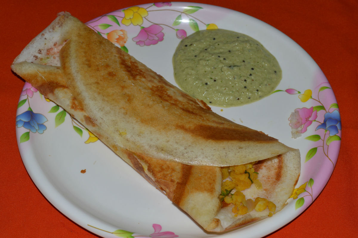 Rice and Lentil Crepe: Masala Dosa, a Healthy Recipe