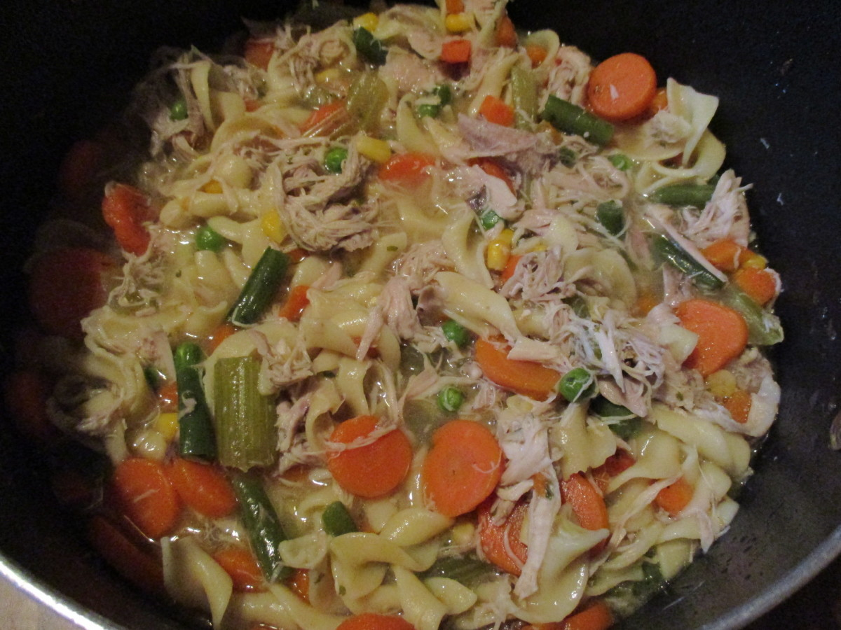 Mom's Cooking: Easy Homemade Chicken Noodle Soup Recipe