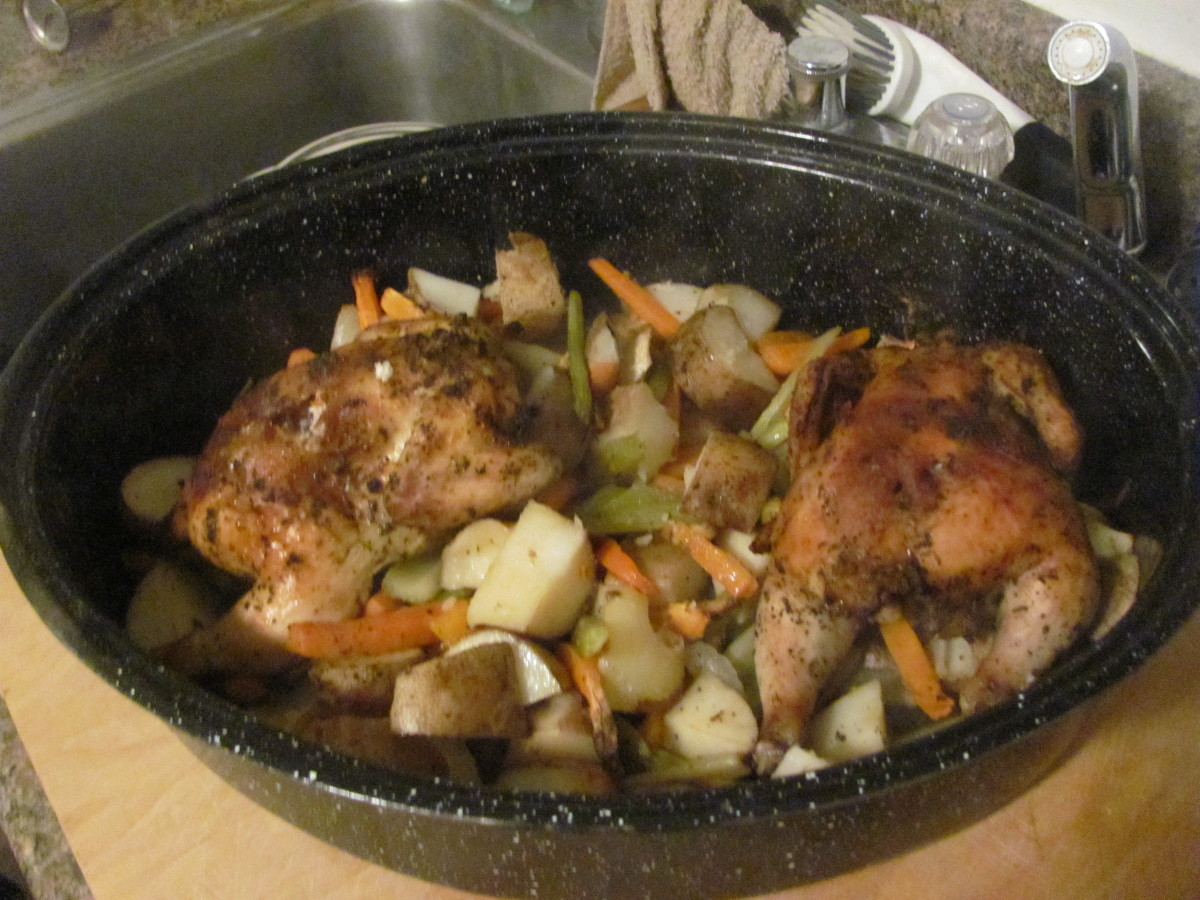 Roasted Cornish Game Hen With All the Fixin's
