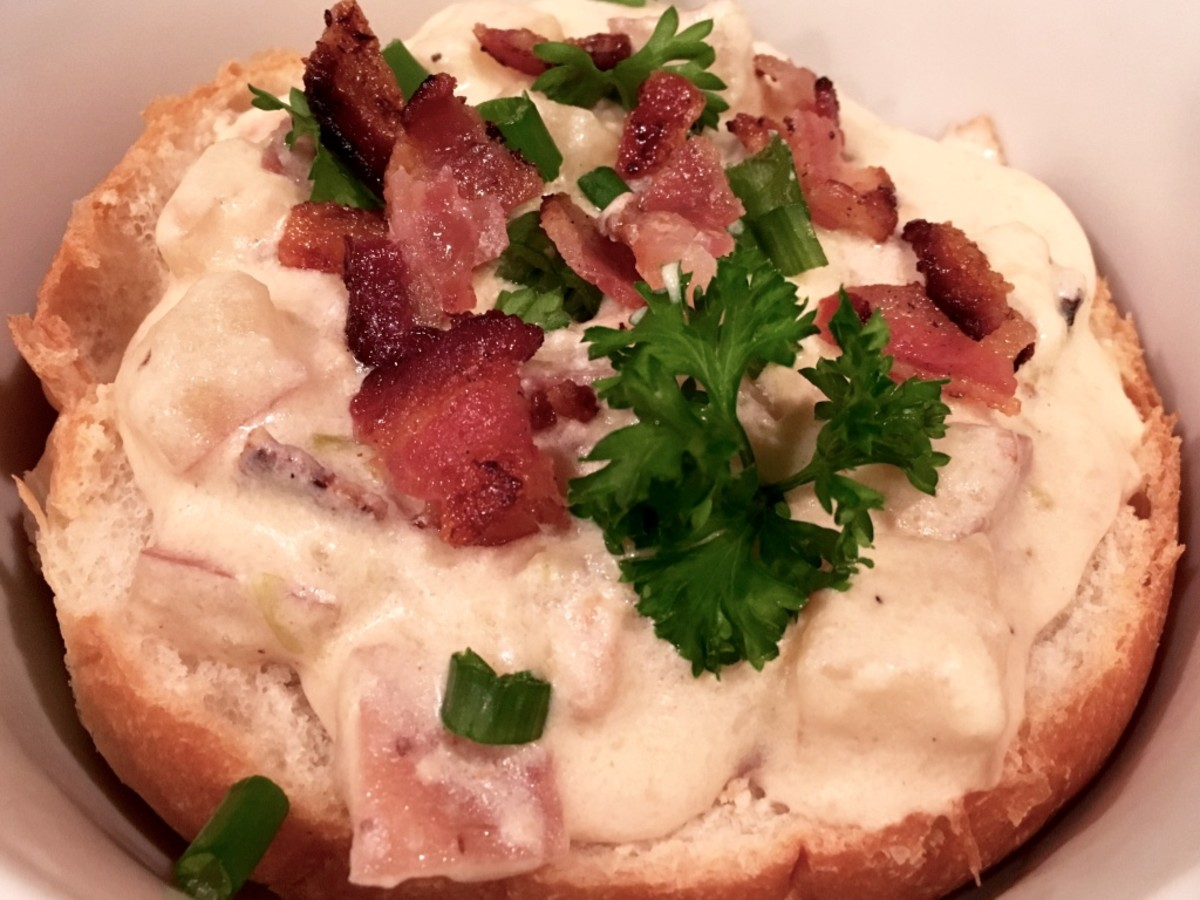 Crock Pot Clam Chowder With Bacon