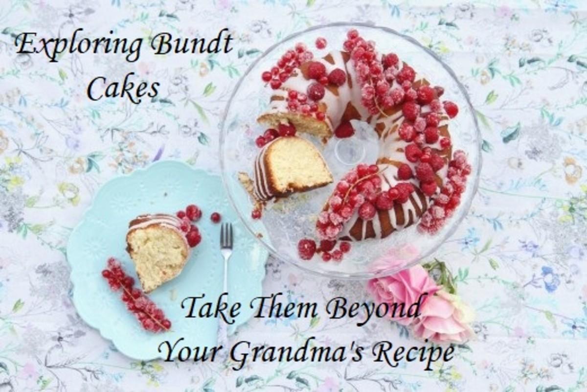 Bundt cake with fresh raspberries