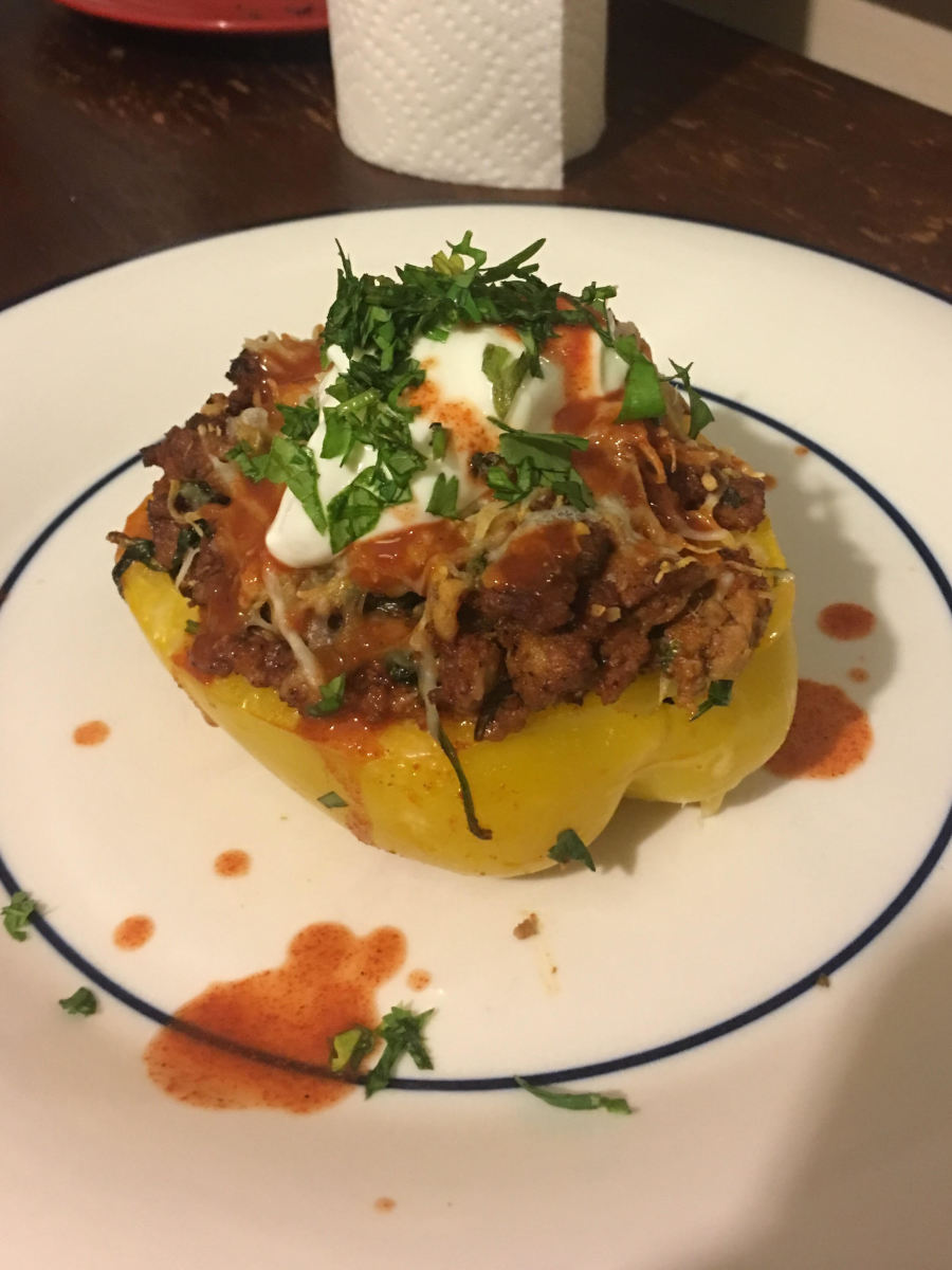 Quick and Easy Taco-Stuffed Peppers