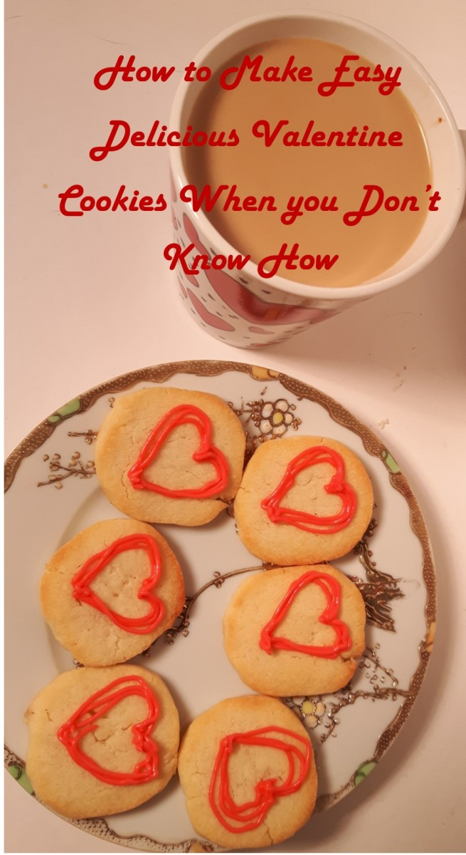Easy Delicious Valentine Cookies for the Beginner Baker