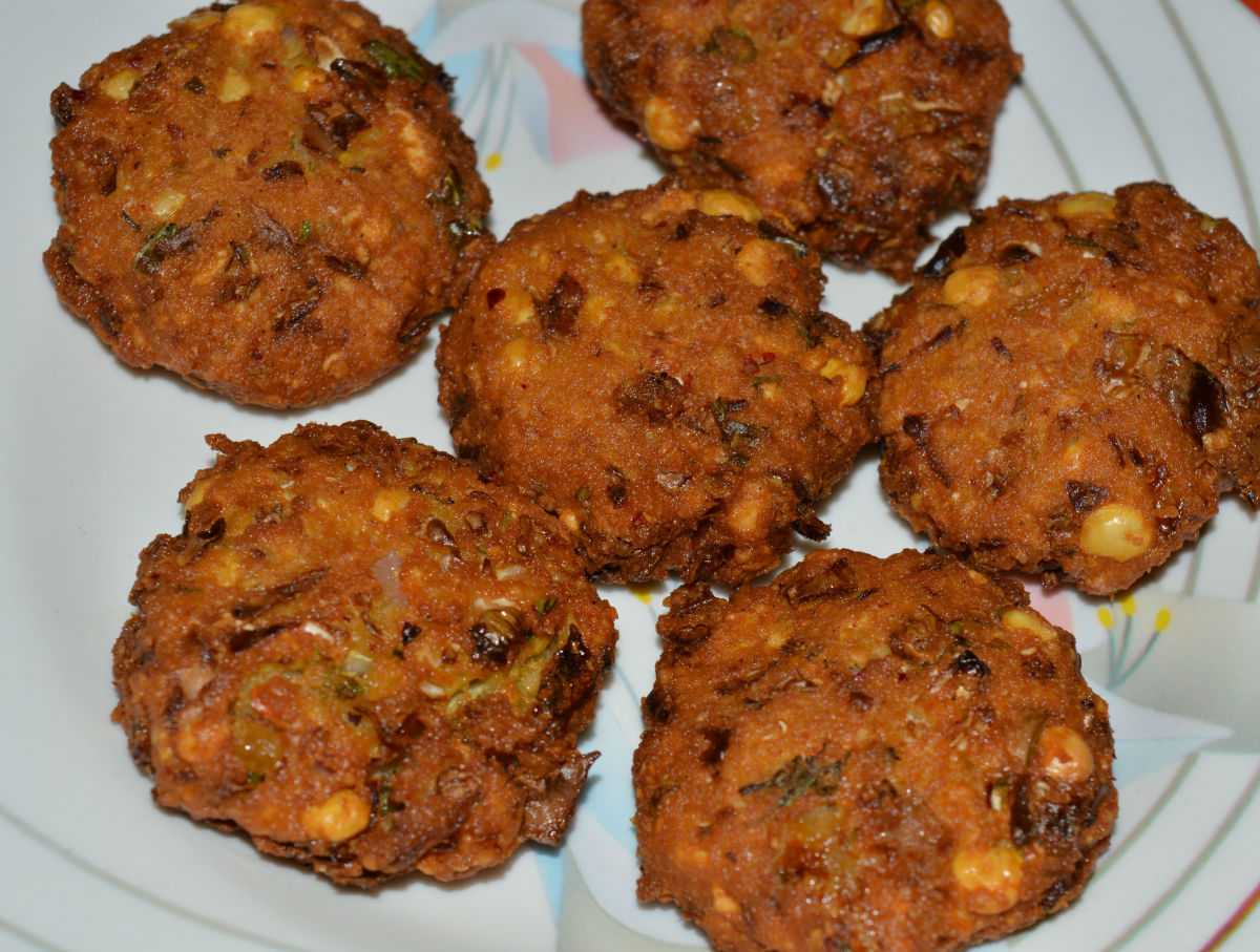 Learn how to make cabbage fritters (cabbage vada).