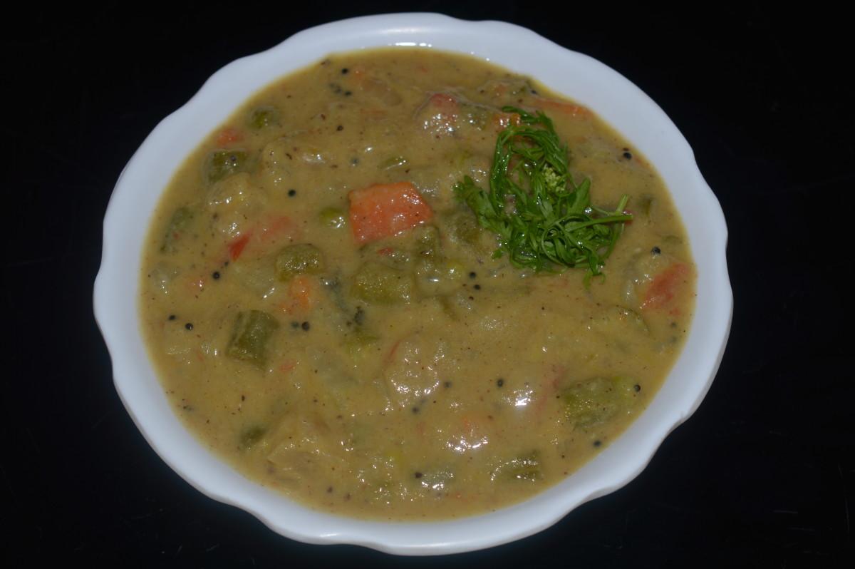 Vegan Curry Recipes: How to Make Mixed Vegetable Curry(Saagu)