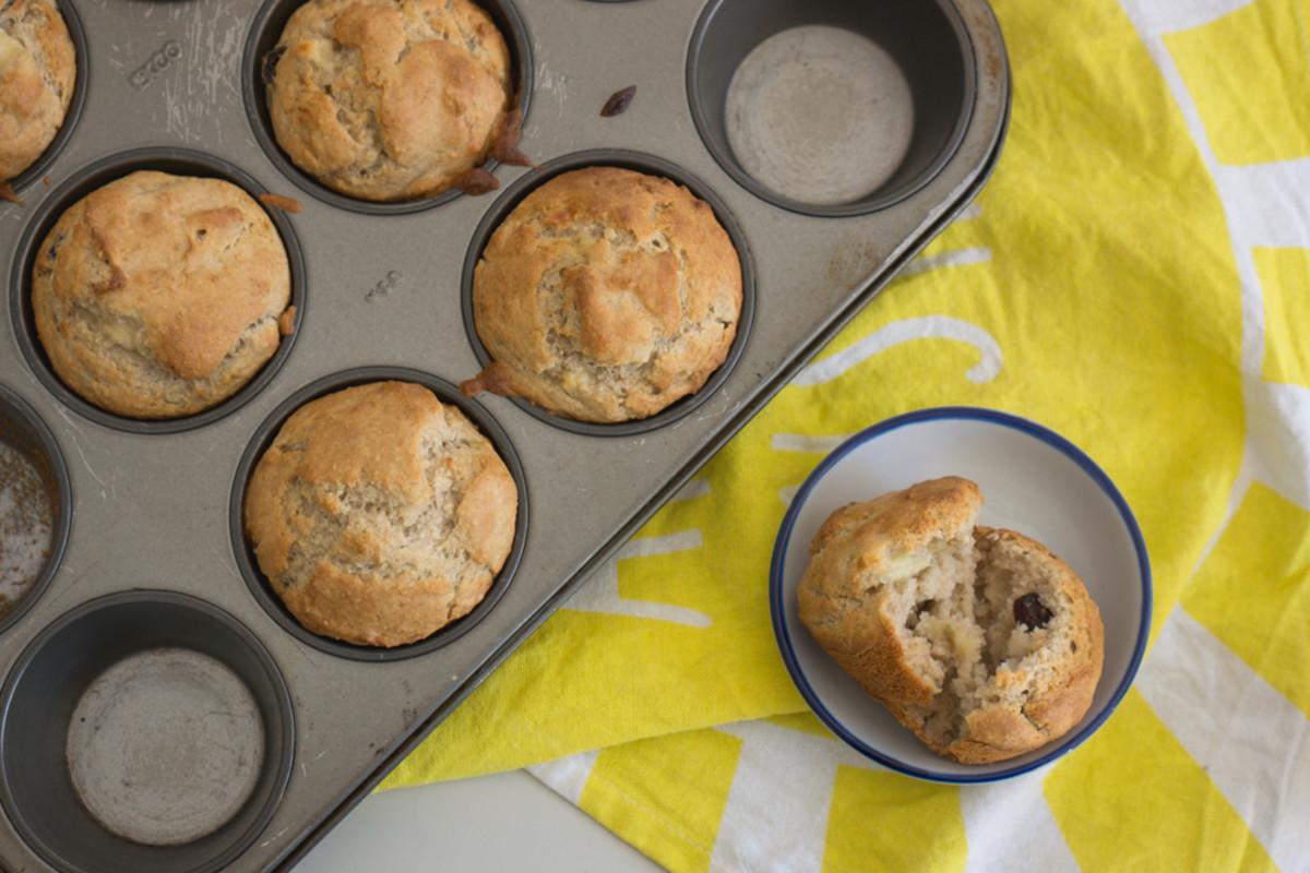 Yummy, Fluffy, Healthy Vegan Muffins