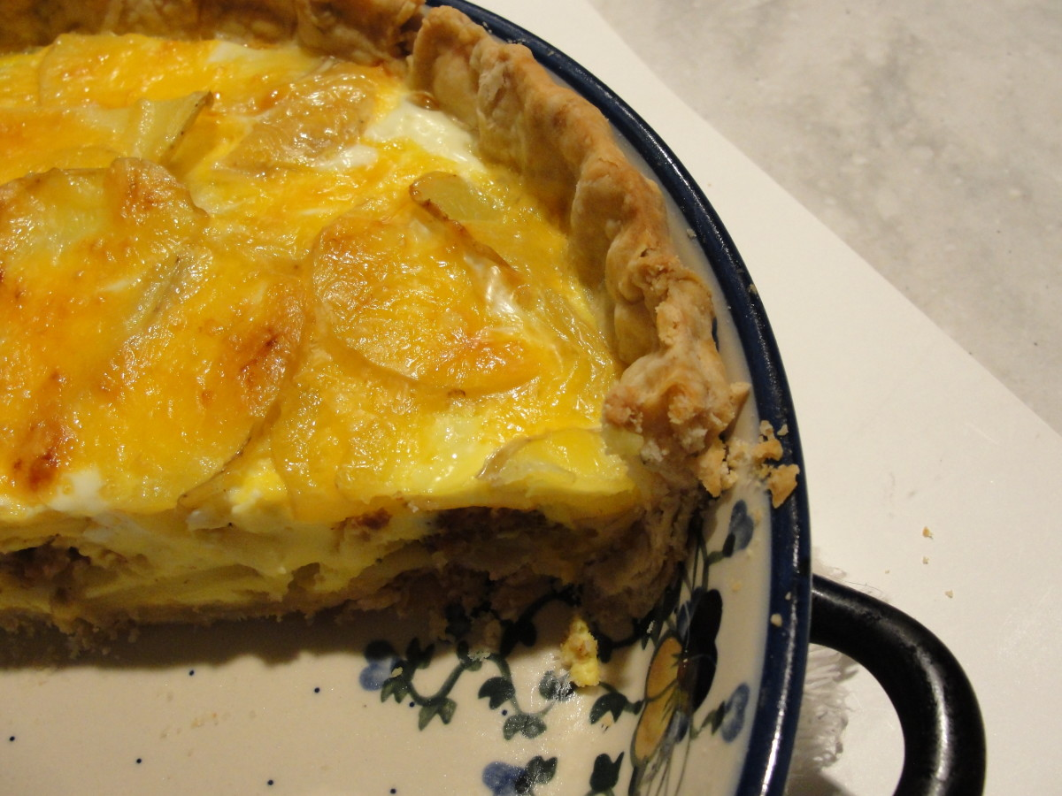 Potato and Sausage Quiche