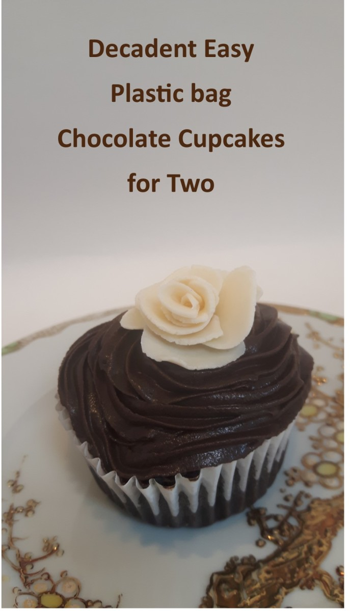 Decadent Easy Plastic bag Chocolate Cupcakes for Two