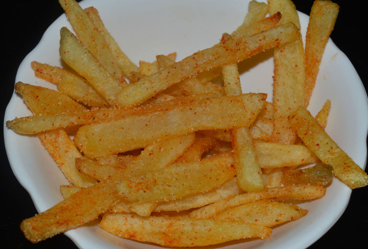 Home made French fries(spicy)