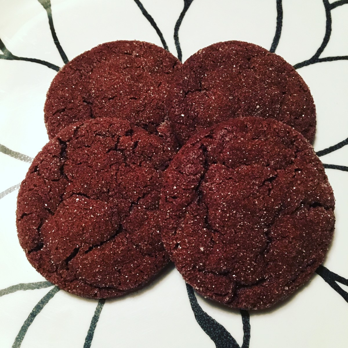 Sugar-Coated Chocolate Cookies