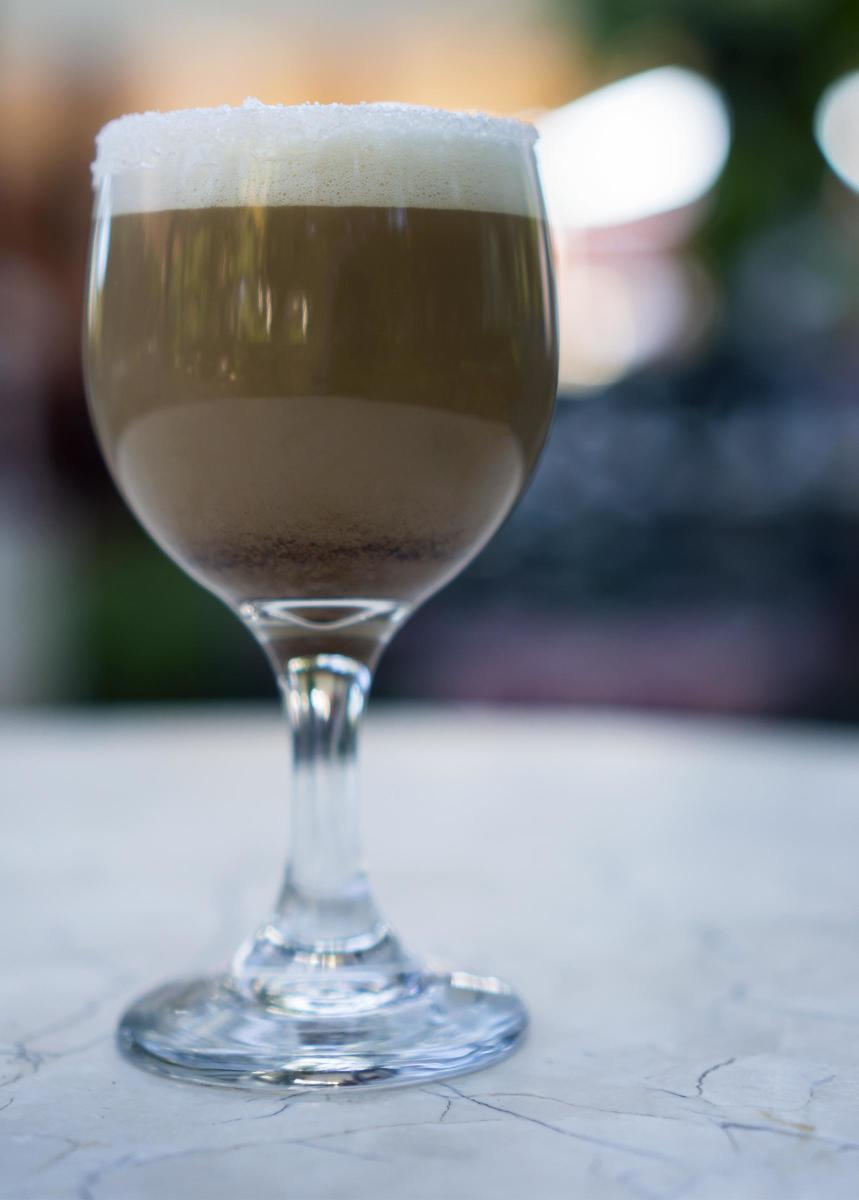 A classic carajillo cocktail