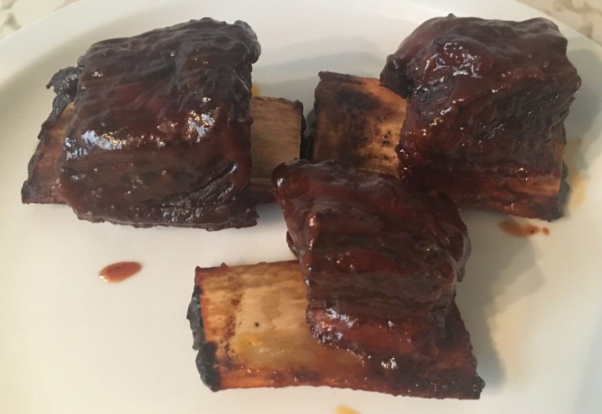 This will be the finished product - a perfect set of BBQ short ribs.