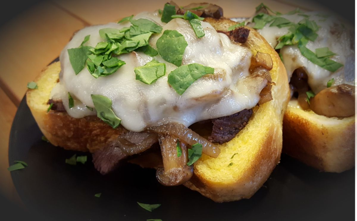 Open-Faced Venison Steak Sandwich Recipe