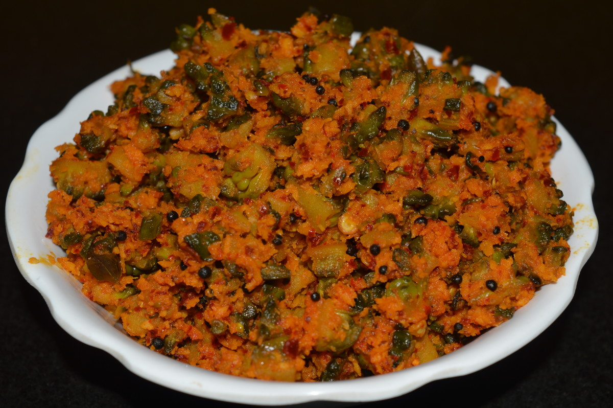 Bitter gourd curry is also known as hagalkai palya