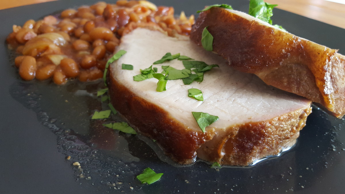 Juicy, smoked wild hog tenderloin is so tender, you can cut it with a fork.