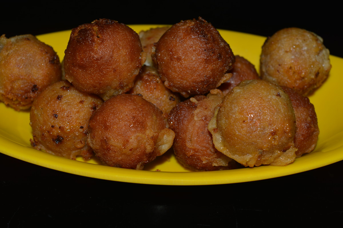 Sukrunde (coconut sweet balls) is a delicious Indian dessert.