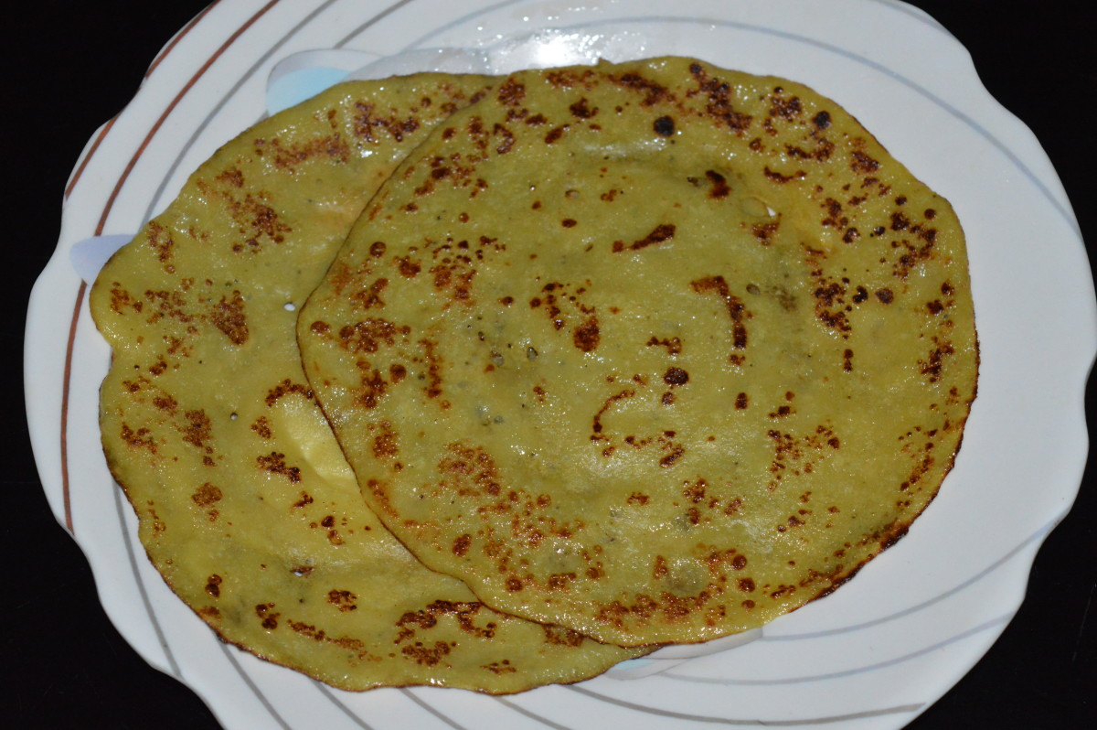 Yellow color banana pancakes