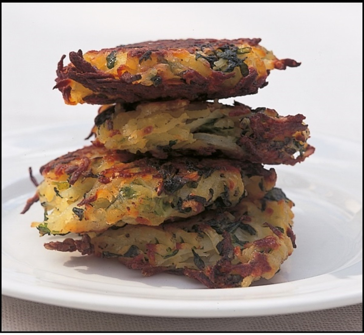 A lovely pile of bubble and squeak rosti.