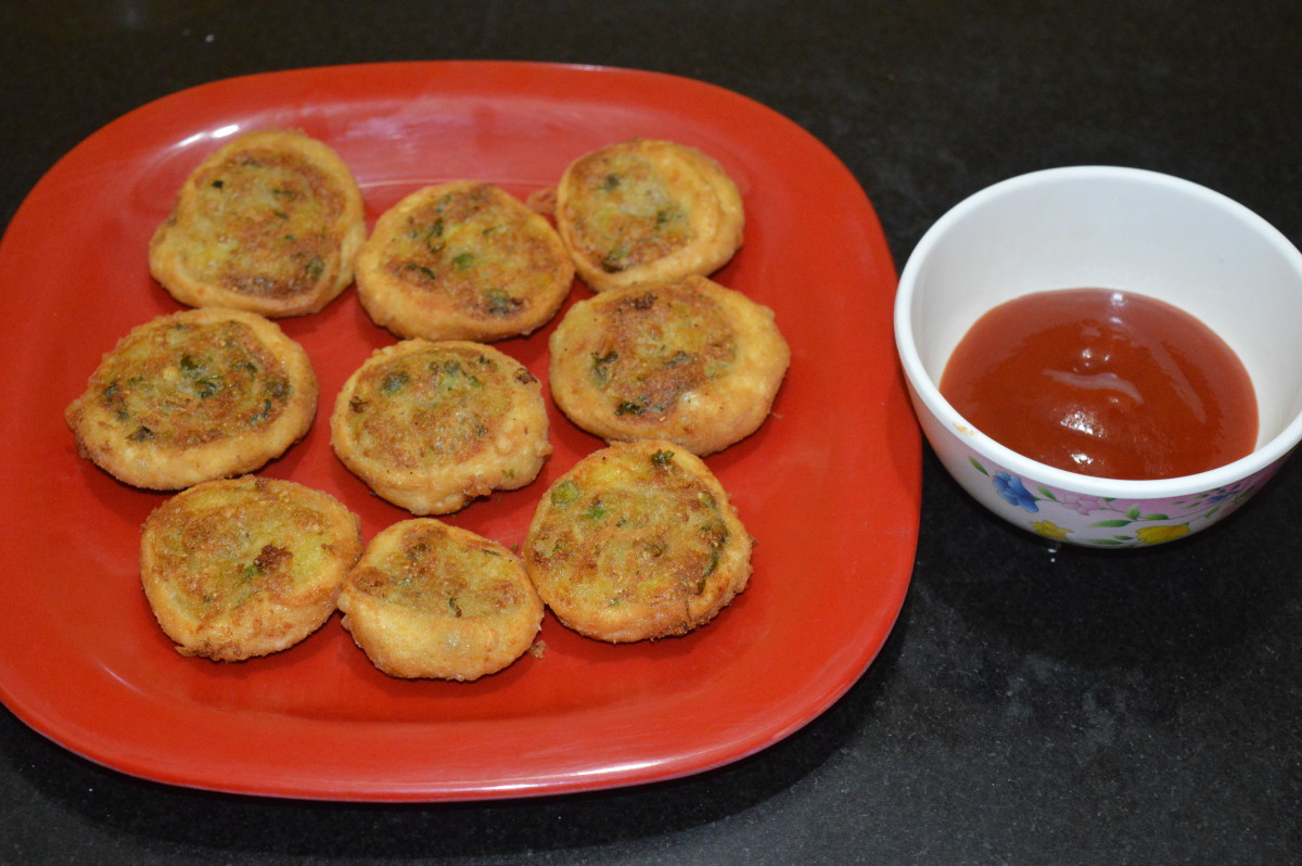 Spicy potato pinwheels or samosa pinwheels