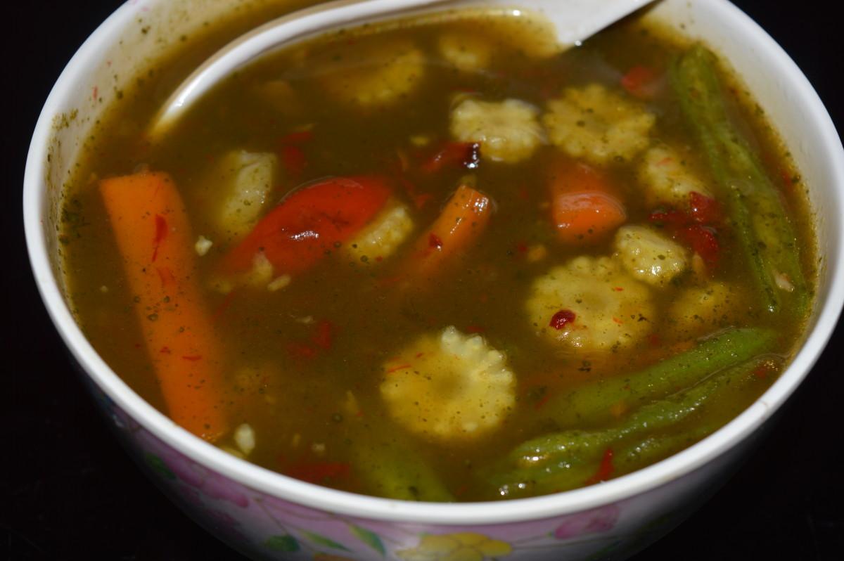 Mint vegetable soup