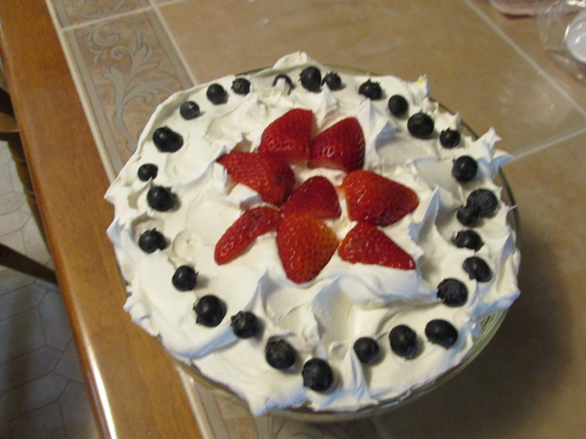 Strawberry & Blueberry Trifle, Adult Version