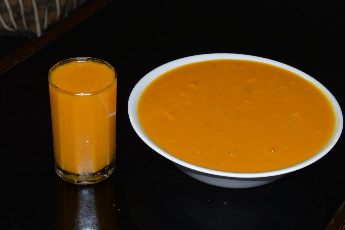 Healthy Beverages: Mango Rasayana or Mango Smoothie with Coconut Milk