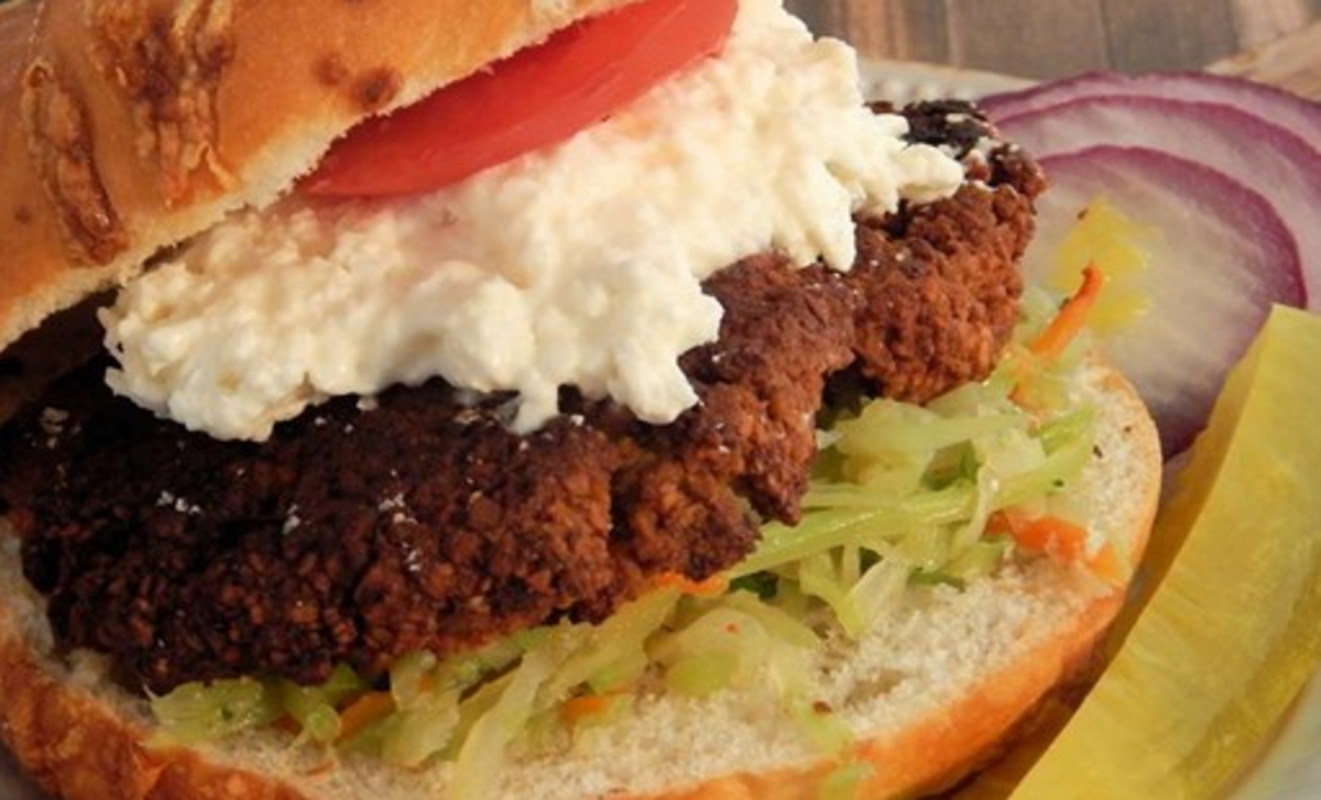 These vegetarian burgers are a nutty treat.