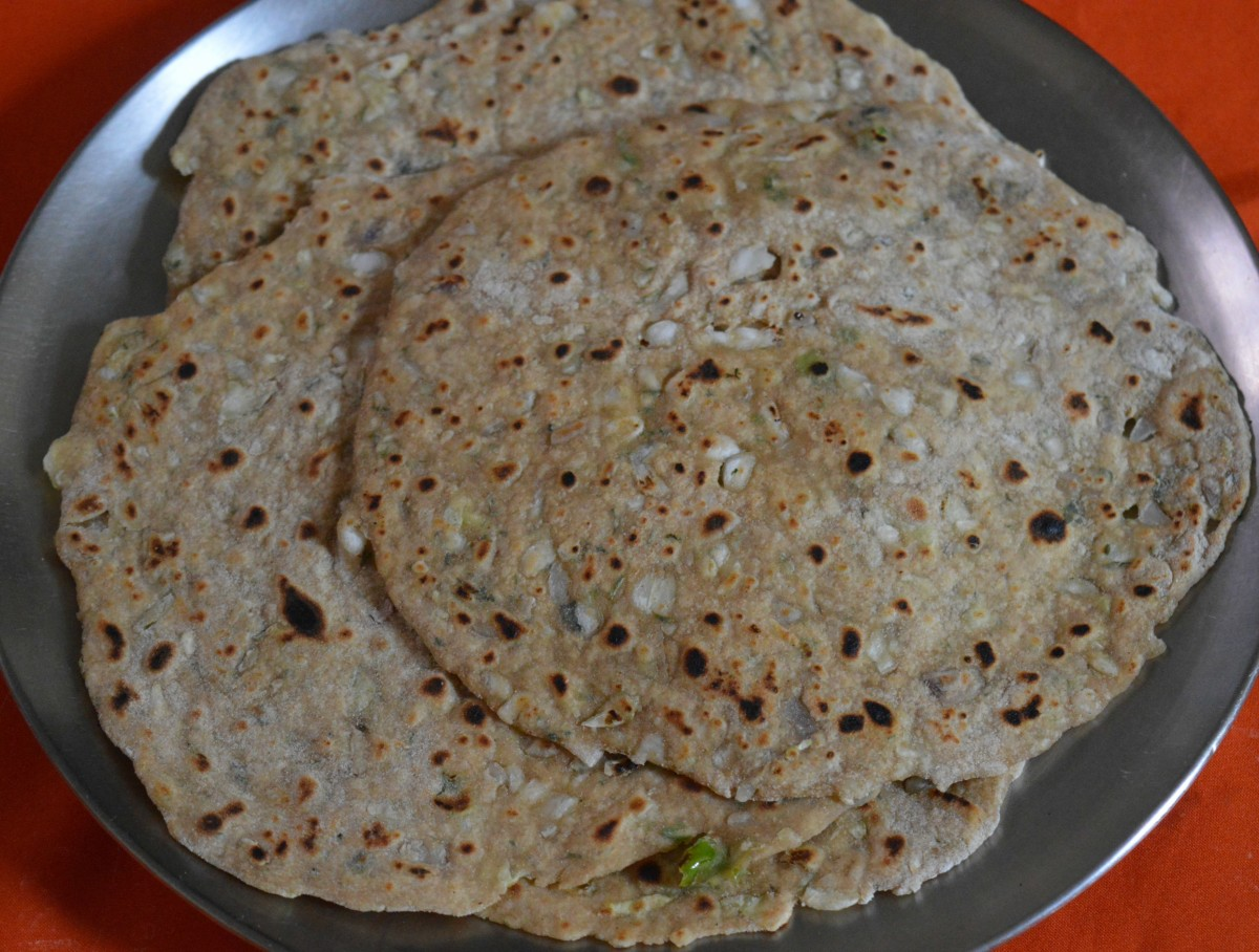 How to Make Cabbage and Onion Pancakes (Parathas)