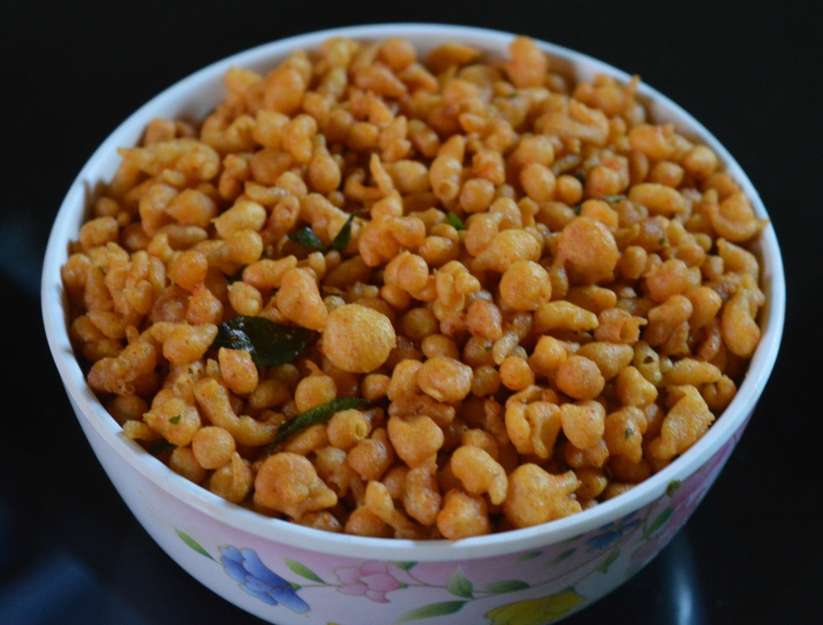Gram Flour Indian Snacks: Khara Boondi Recipe
