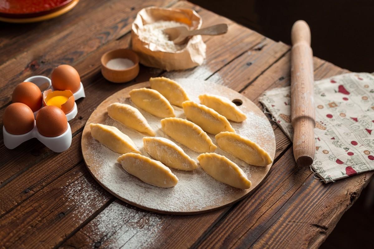 Freshly made empanadas.