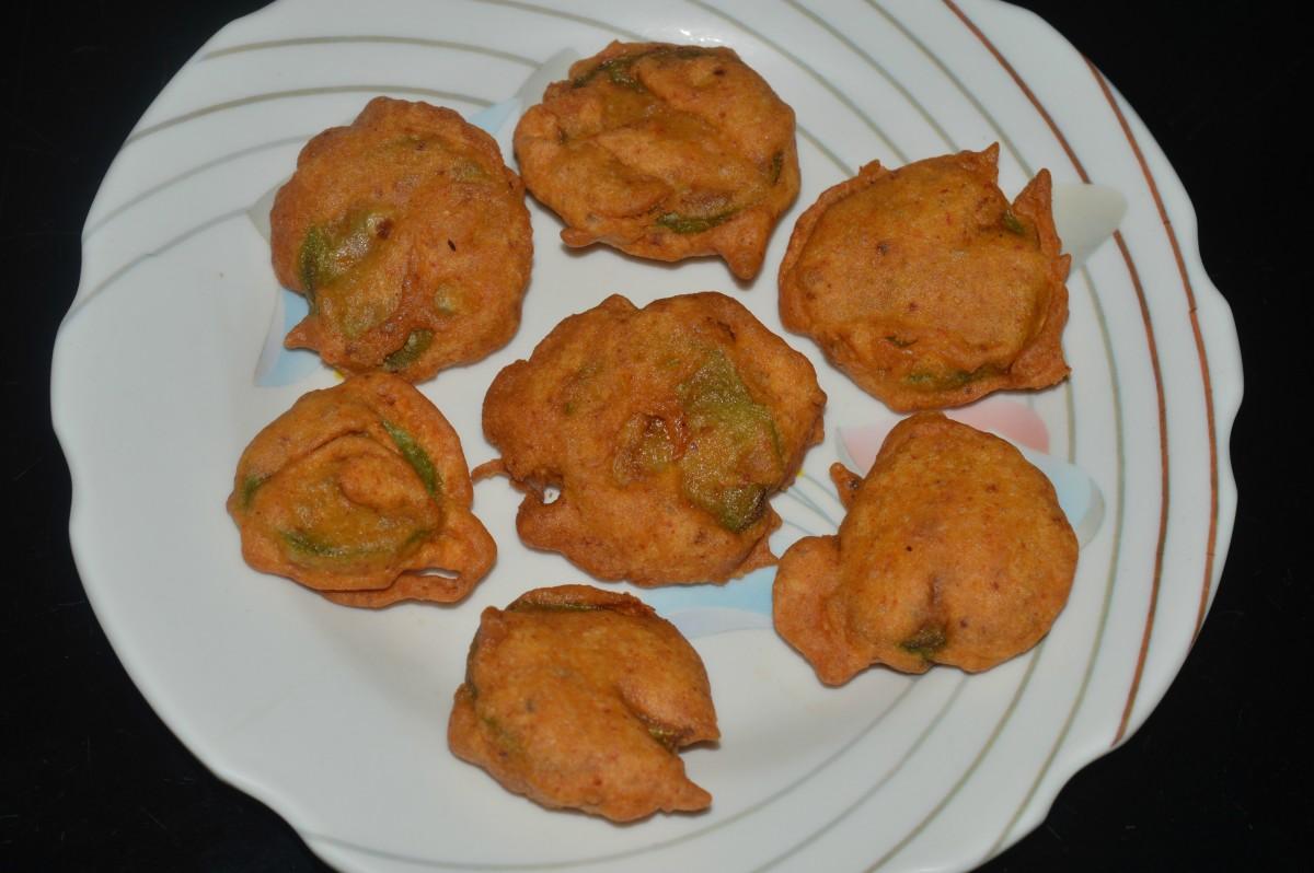 Ridge gourd pakora or bajji