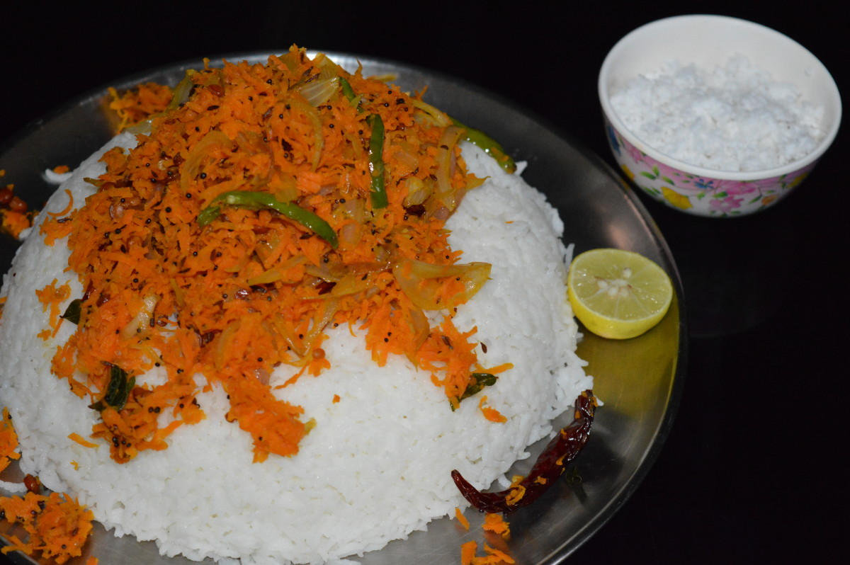 Just to mix: Carrot rice