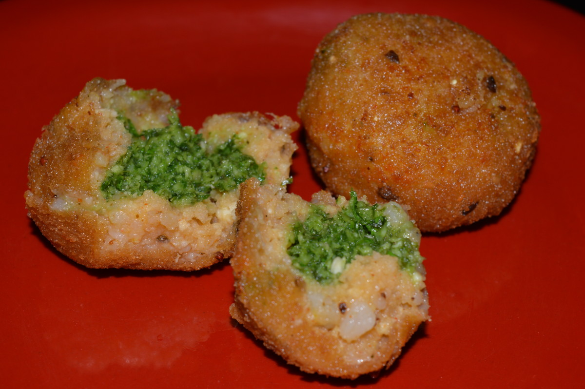 Chutney potato balls.