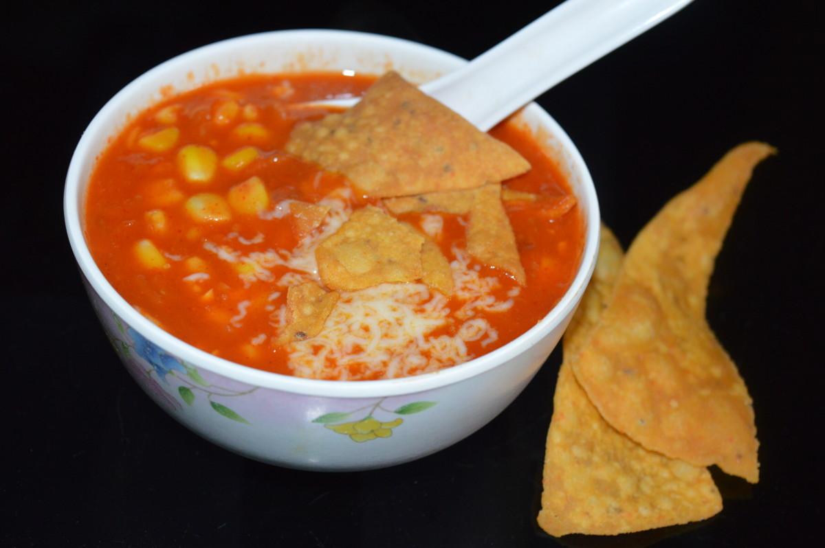 Mexican nacho soup