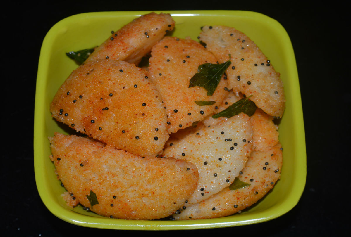 How to Make Fried Rava Idli or Fried Semolina Dumplings