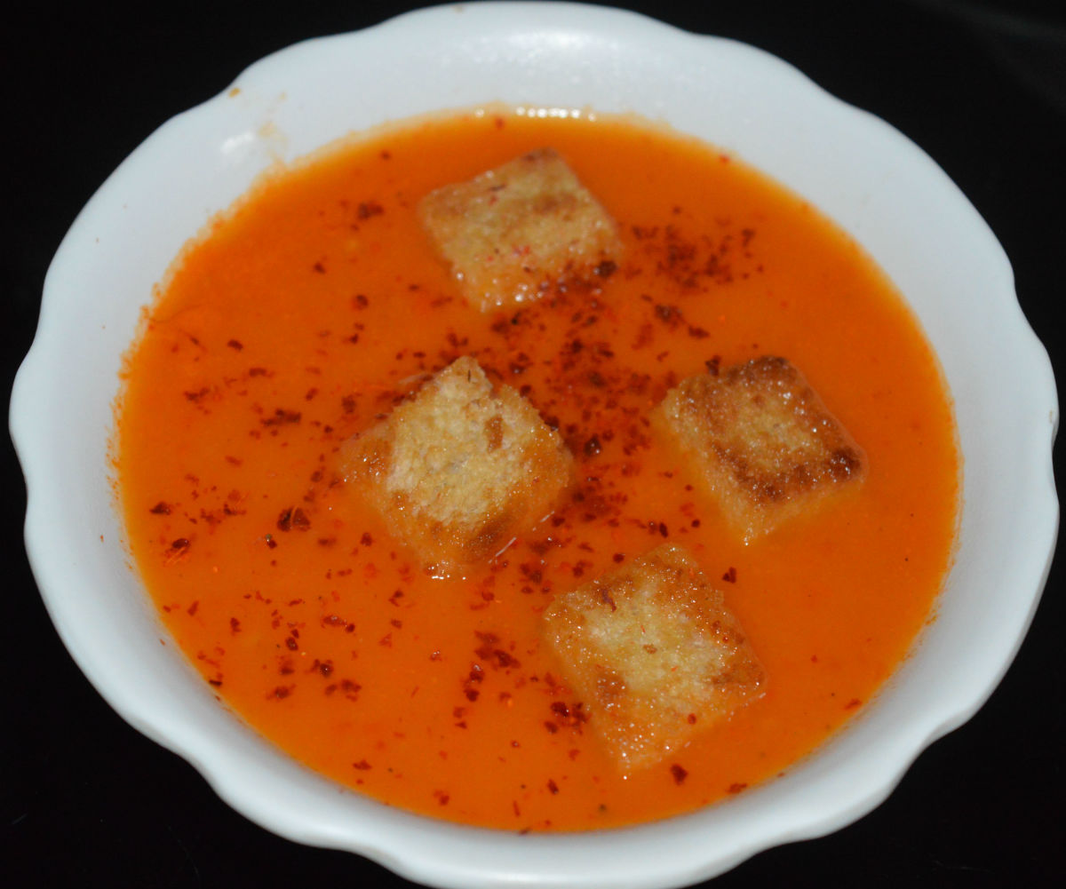 Creamy Tomato and Sweet Pepper Soup