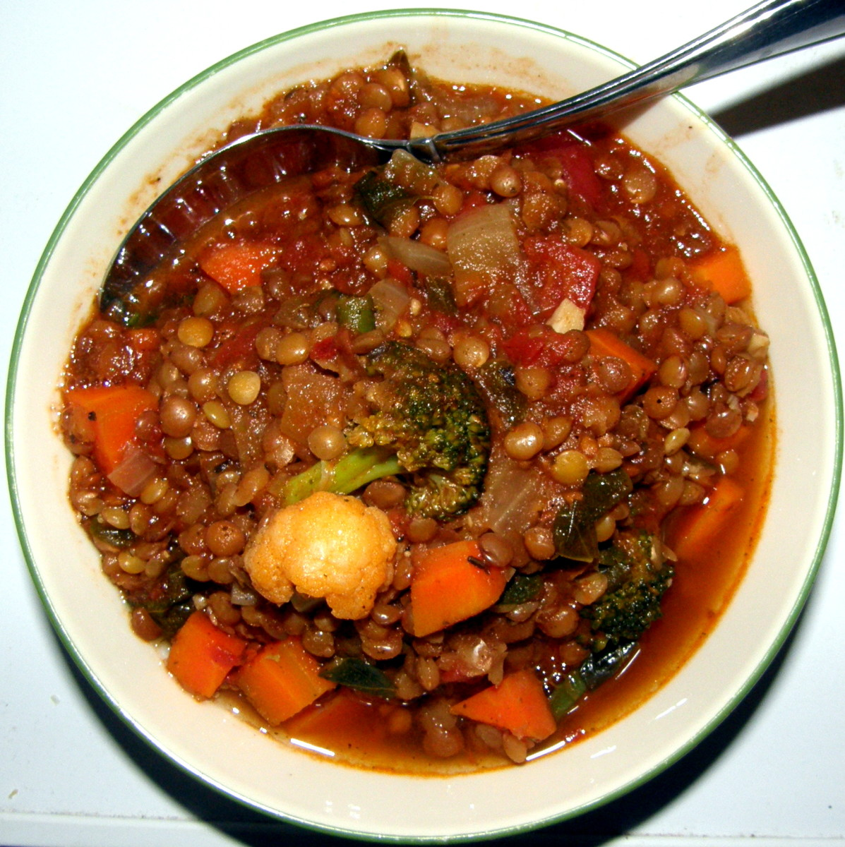 Moringa Vegetable Lentil Soup