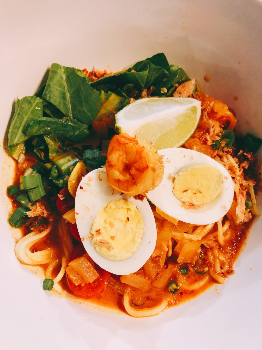 Malaysian curry noodles are perfect for the cold weather.