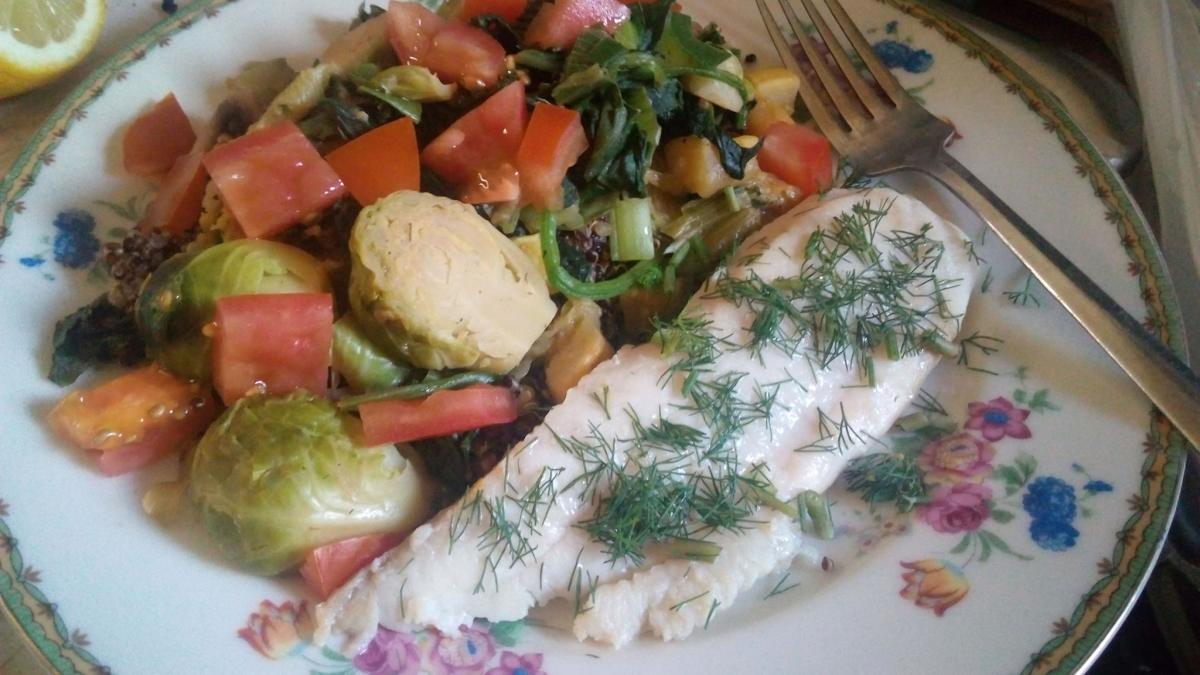 A pescatarian diet is like a vegetarian diet, but with fish.