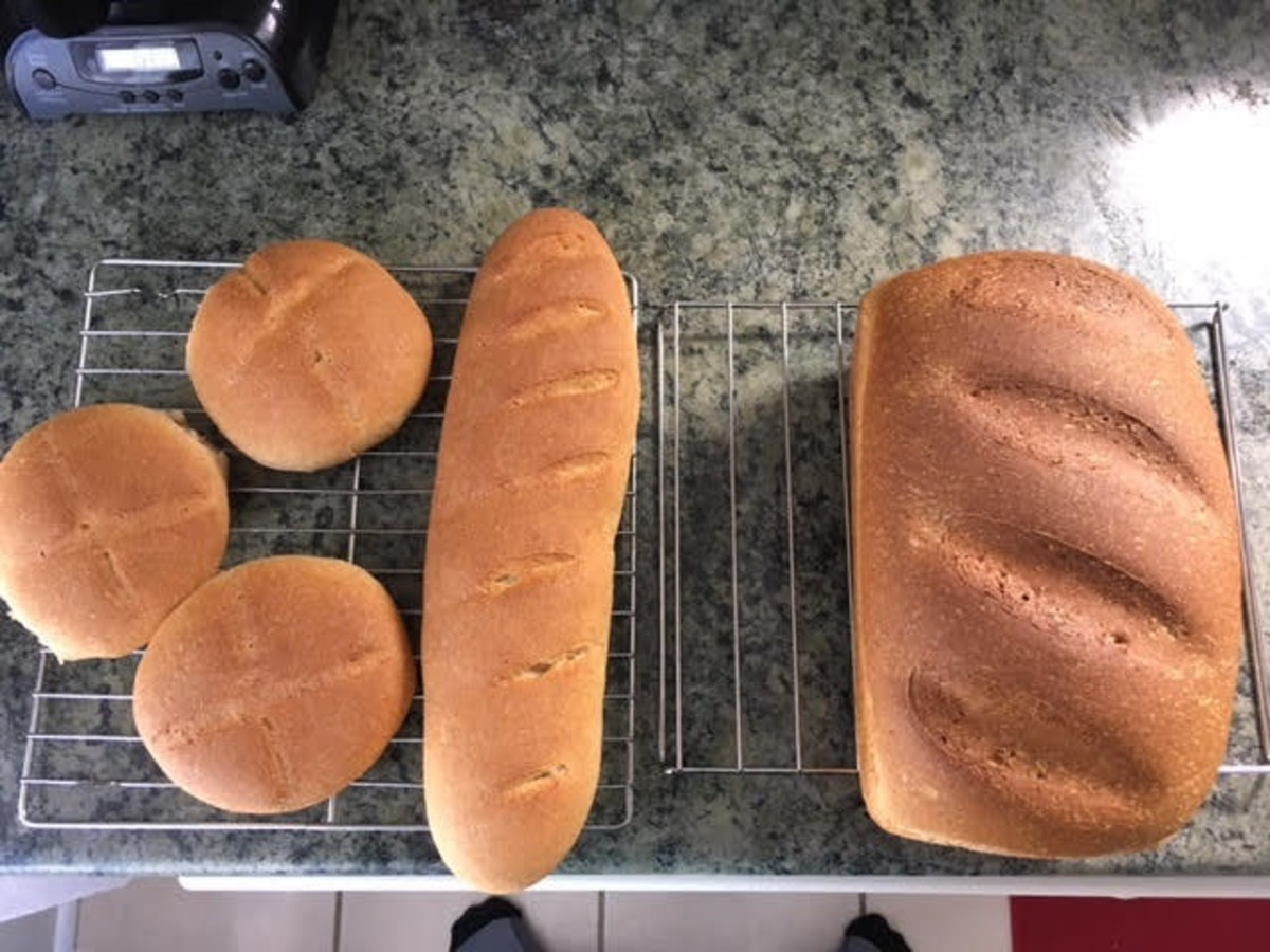 Making Bread, Buns and a Baguette From One Recipe
