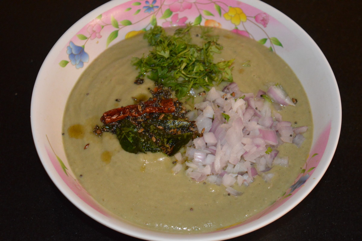 Easy Long Green Eggplant Yogurt Curry or Brinjal Raita Recipe