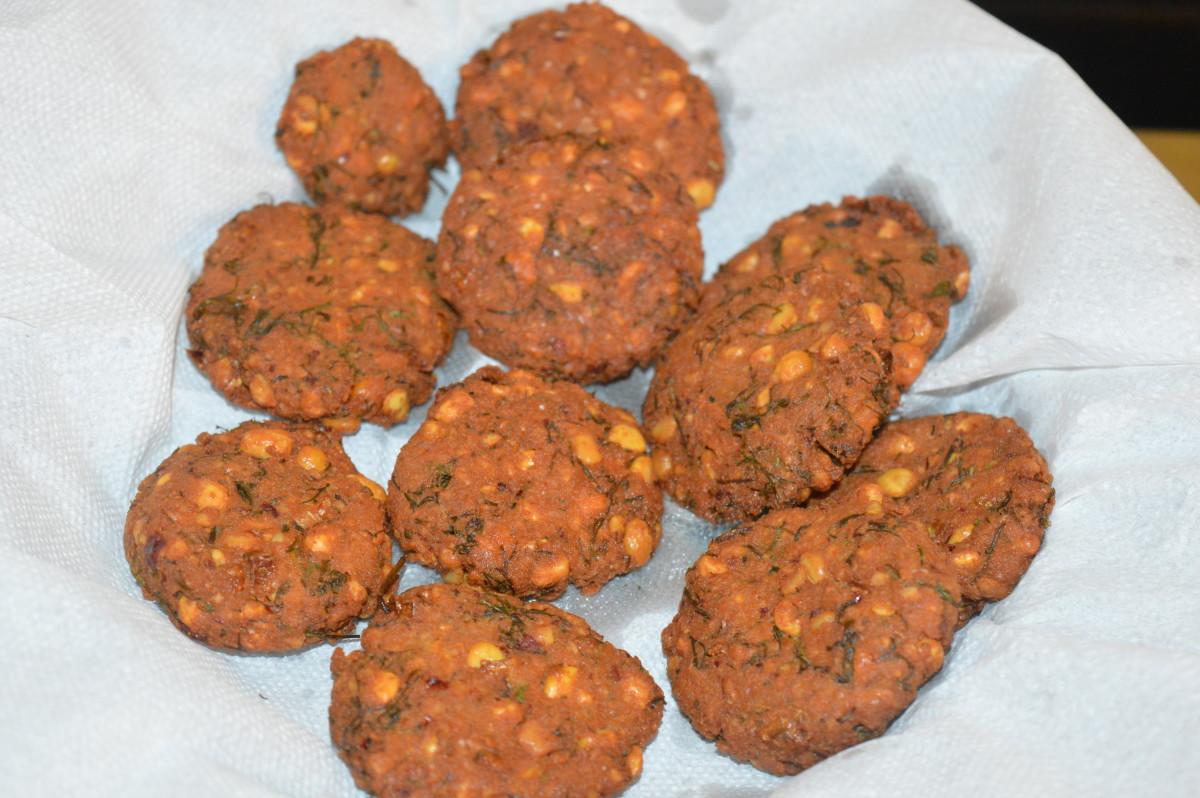 Bengal Gram Fritters or Dal Vada