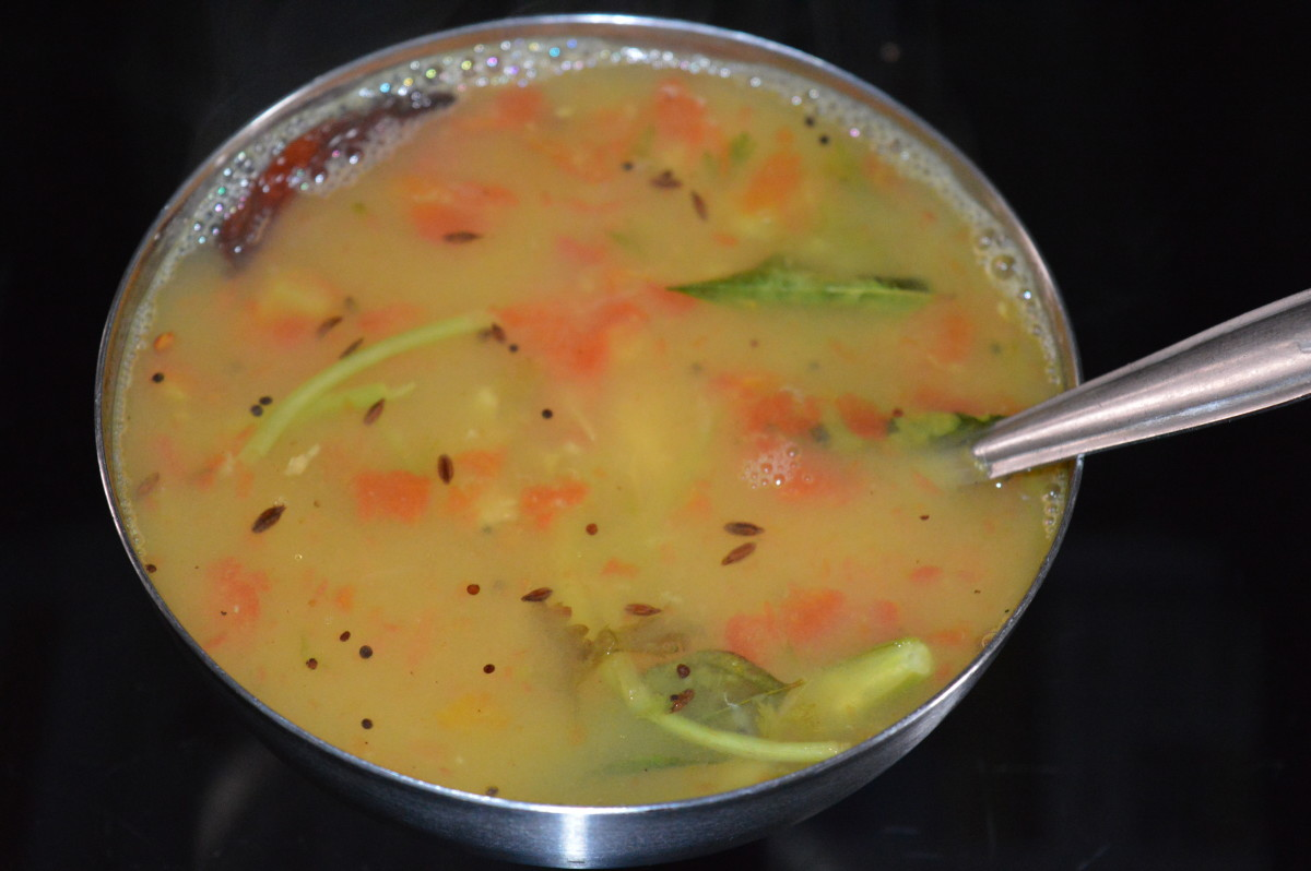 Making Lemon Rasam (Lemon Soup With Lentils)