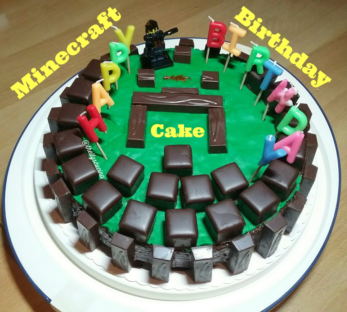 My Minecraft Birthday Cake.