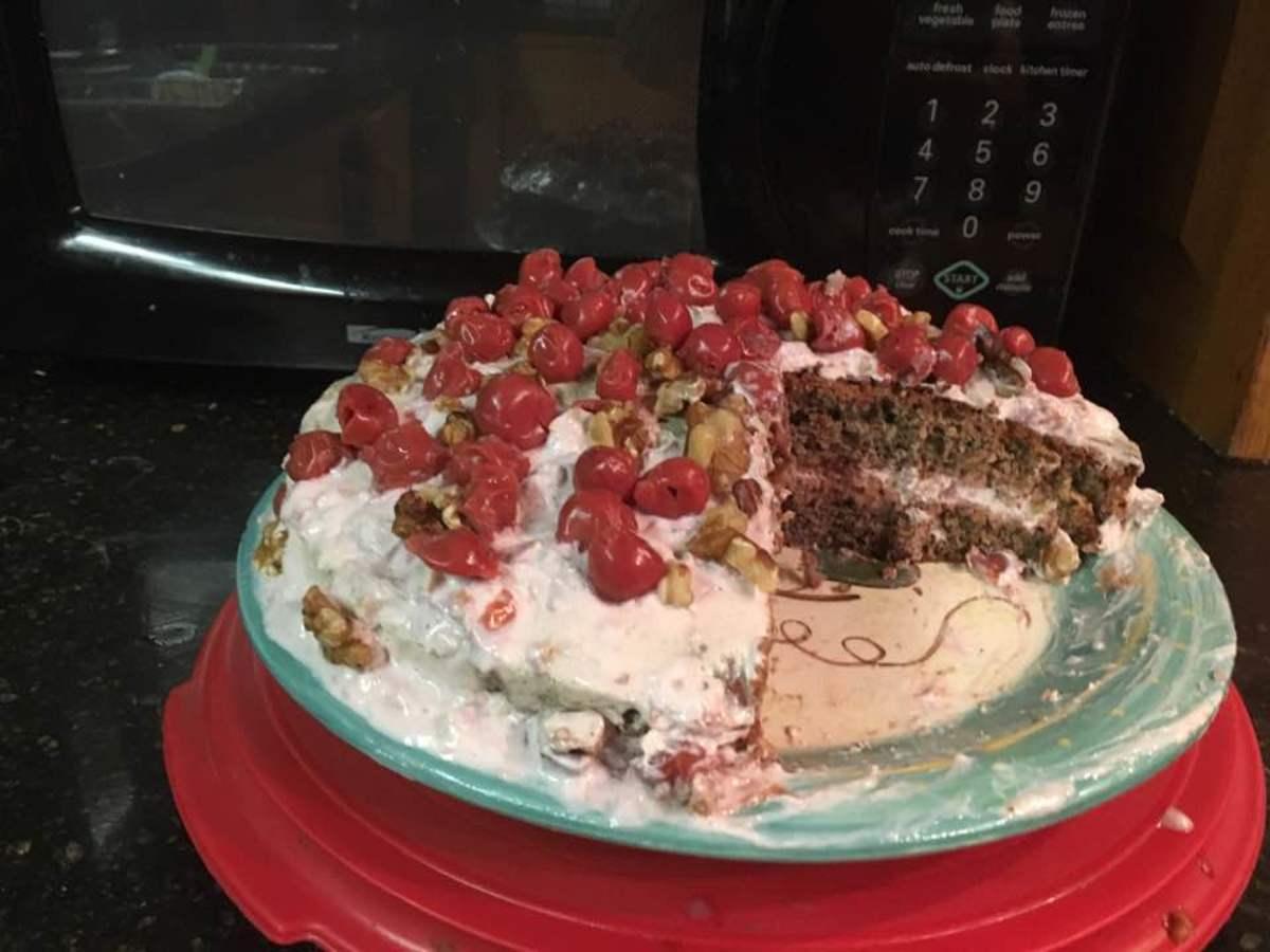 Blackberry and Sour Cherry Cream Cake Recipe