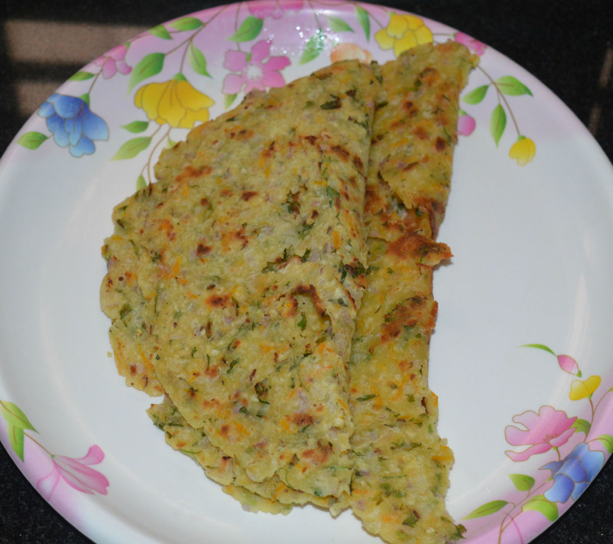 Masala Akki Rotti, or Spicy Rice Flour Flatbread