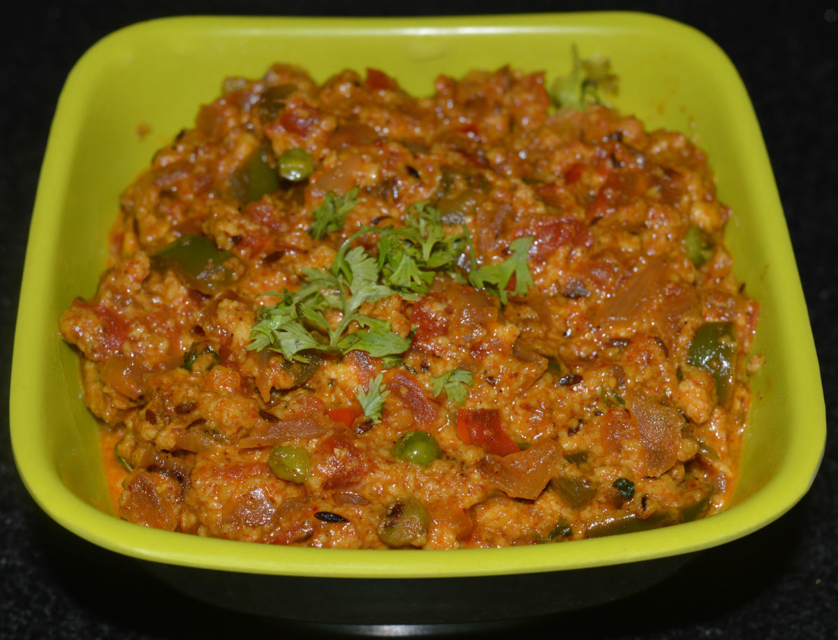 How to Make a Spicy Paneer Bhurji or Paneer Curry