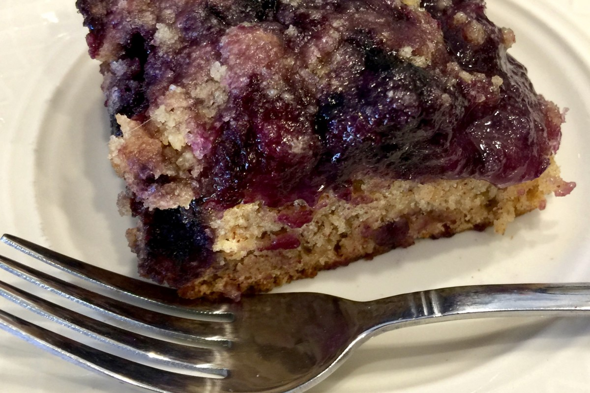 Vegan, Low-Sodium Blueberry Buckle Made With Whole-Wheat or Gluten-Free Flour