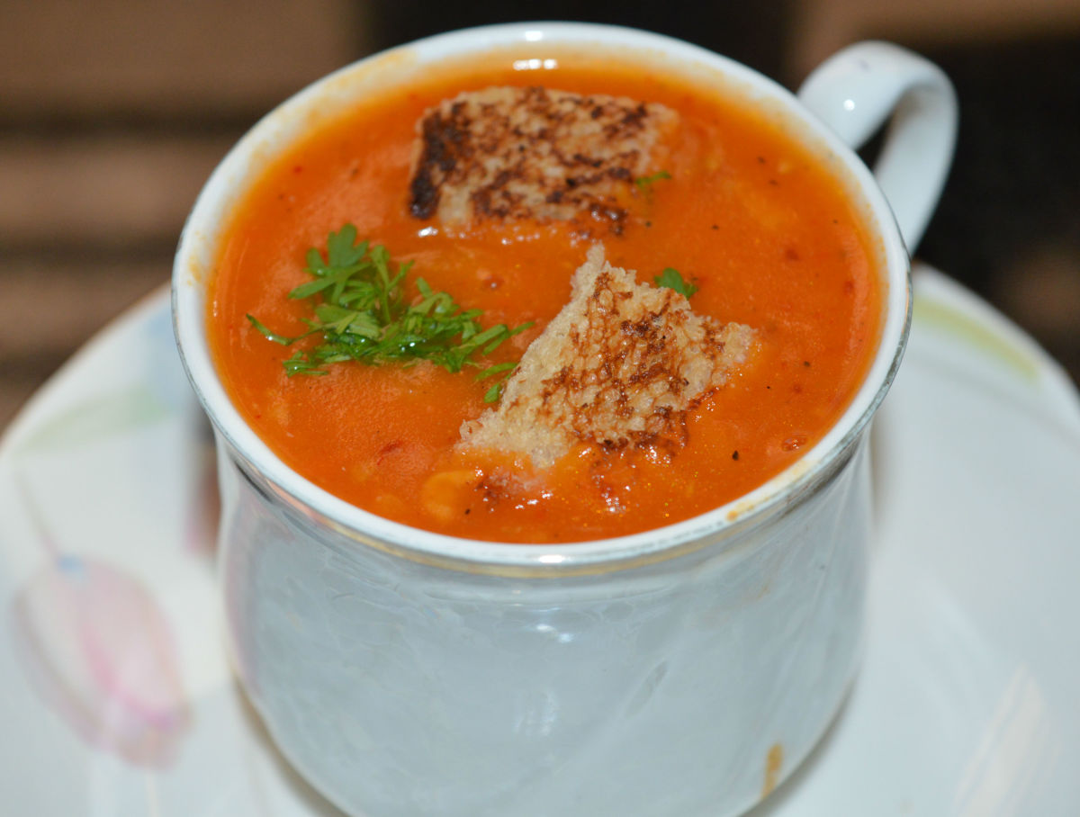 Learn how to make restaurant-style tomato soup at home